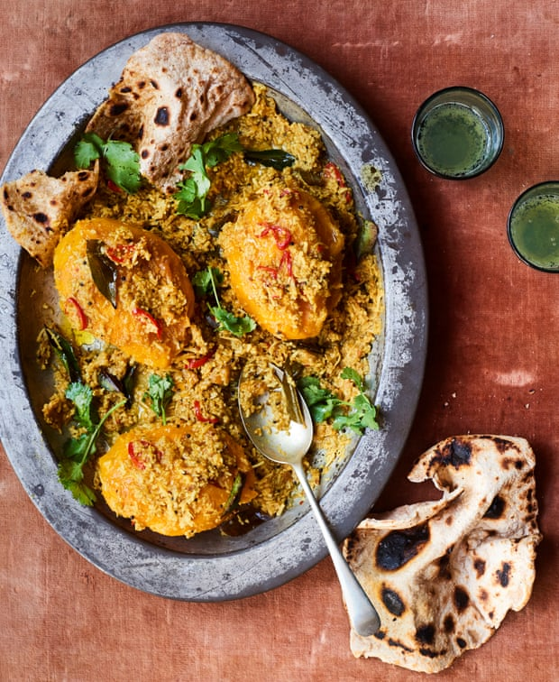 Coconut curry and a boozy fruit pudding: Ravinder Bhogal's alphonso mango recipes
